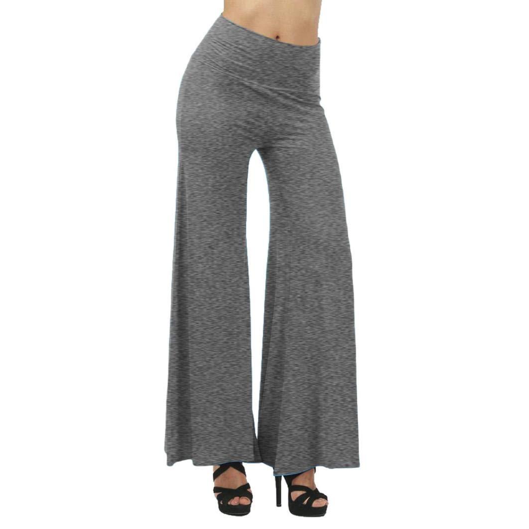 Pants For Women, Clearance! Pervobs Women Plus Size Leggings High Waist Bloomers Yoga Dance Wide Leg Pants(S, Gray)