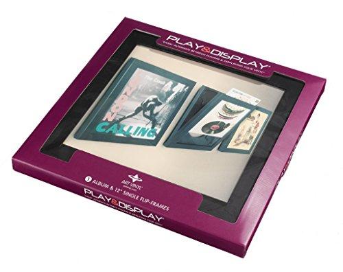 Play & Display Vinyl Record Display Frame, Displays Albums Covers, 12.5x12.5, Black