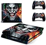 PS4 skin joker vinyl decal cover for Sony playstation 4 n two controllers