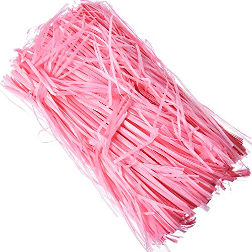 Hestya 100 Gram Easter Basket Grass Craft Shred Paper Shredded Tissue Paper for Packaging Filling (Pink)]()