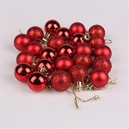 24pcs Mixed Christmas Party Ornaments Xmas Tree Hanging Decor Gold #10 - 3