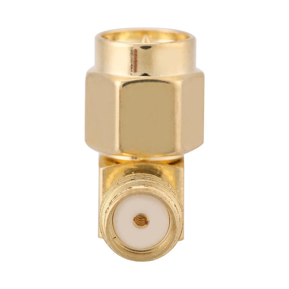 Adaptateur SMA 5 Pcs//set Adaptateur SMA m/âle vers femelle Adaptateur /à angle droit de 90 degr/és pour commutateur de connexion RF SMA m/âle vers adaptateur femelle