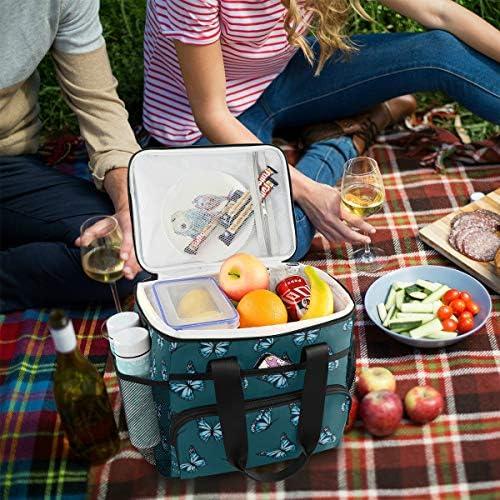 Lunchbox Borse da pranzo colorate a forma di insetto farfalla Borse da pranzo per donne con tracolla regolabile per picnic picnic in spiaggia Bbq Beach