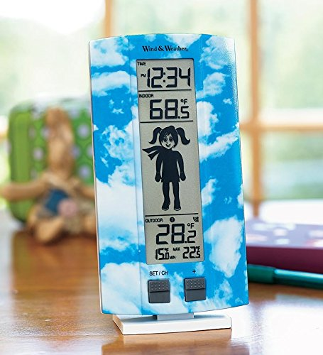 Wind & Weather ID3890-GRL My First Weather Station with a Kid-Friendly, 6-1/4H