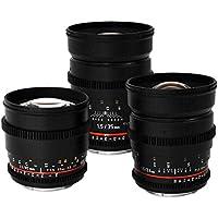 Rokinon Super-Fast T1.5 Cine 3 Lens Kit - 35mm + 24mm + 85mm for Canon EF Mount