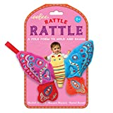 eeBoo Soft Plush Baby Rattle, Butterfly