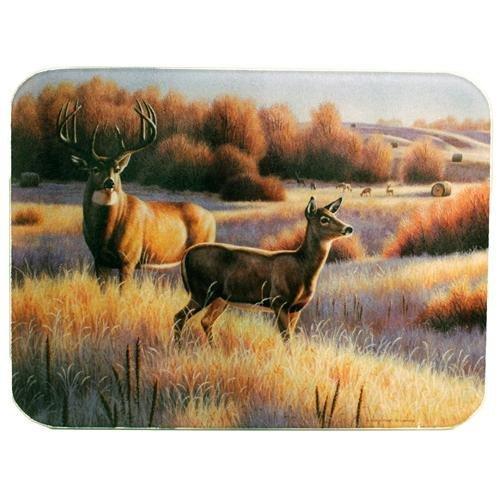 川のエッジ強化ガラスカッティングボードwithでゴージャスな鹿Running Forrest設計鹿、16-inchx12-inchx。5インチ) by川のエッジ製品   B01N8WC3S4