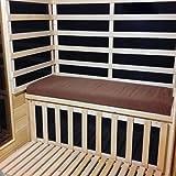 Radiant Saunas SA5052 Seat Cushion for Sauna, Brown