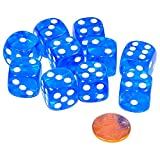 JustMikeO Set of 50 Six Sided D6 16Mm Standard