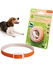 Collar for Cats and Dogs Natural Botanic Essential Oil Protection Collar Lasting Up to 60 days Adjustable Size (Orange)