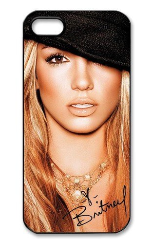 [Britney Spears Signed HD image case cover for iphone 5 black well-designed gift] (Britney Spears One More Time Costumes)