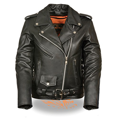 Milwaukee Leather Ladies Classic Style Motorcycle Jacket w/ Zip Out Liner (XX-Large) (Motorcycle Jacket Lace Womens)