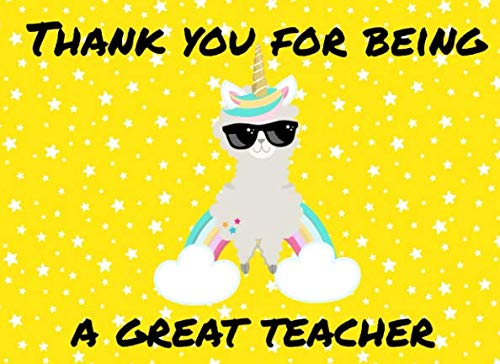 Thank You For Being A Great Teacher: Teacher Fill In Book To Say Thank You For Being The Best Teacher Ever (The Best School Year Ever Questions And Answers)