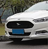 Amooca Black Front upper Honeycomb Billet Grille Mesh Grill Grille Insert Trim fit for 2013 2014 2015 2016 Ford Mondeo Fusion