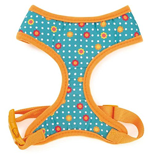 M East Side Collection Blooming Brights Dog Harness, Medium, Turquoise