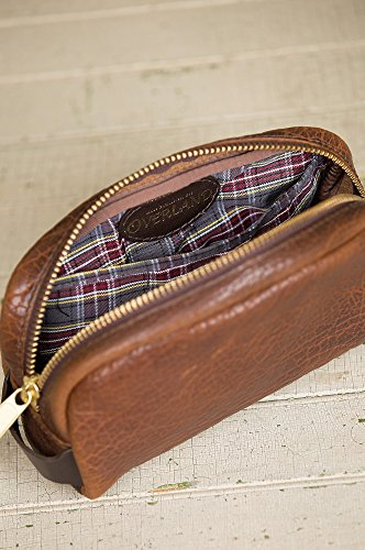 American Bison Leather Medium Travel Kit by Overland Sheepskin Co (Image #5)