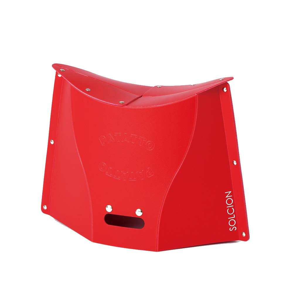 SOLCION Portable Folding Stool for Camping, Fishing, Hiking. 300 Model, Lightweight 0.6kg, Load Capacity 100Kg. Easy to Carry and Store. Suitable for Adults and Kids Indoors or Outdoors(Red Large) by SOLCION