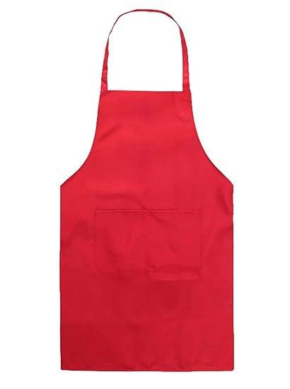 Cdet Delantales de poliéster 55 52cm color sólido para niños Rojo ... 87e3c52e03a