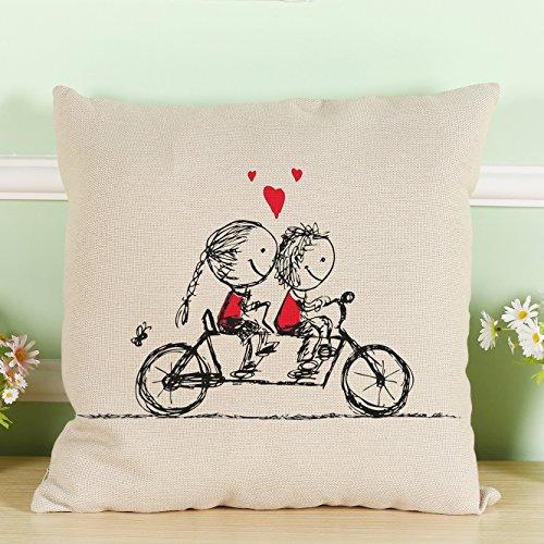 Sykdybz Sofa Cushion Stamp Cotton Linen Pillow Set Of Office To The Sofa Cushion E