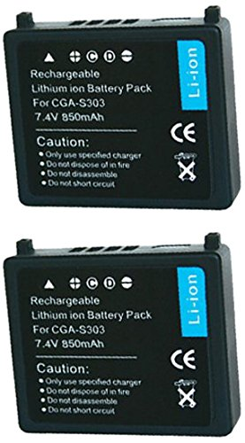 Cga S303 Camcorder Batteries - ValuePack (2 Count): Digital Replacement