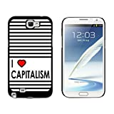 img - for Graphics and More I Love Heart Capitalism - Snap On Hard Protective Case for Samsung Galaxy Note II 2 - Black book / textbook / text book