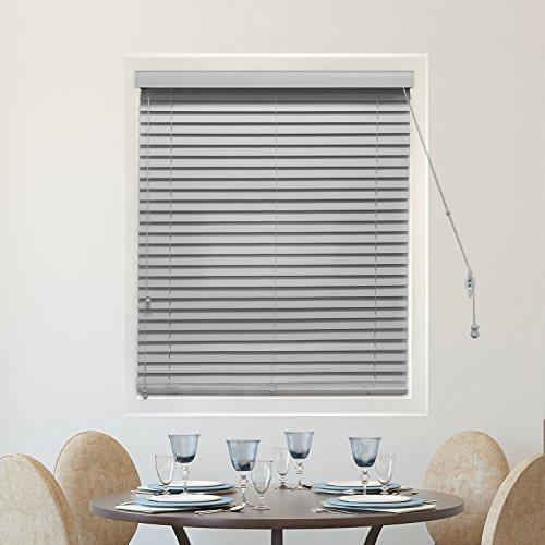CHICOLOGY Faux Wood Blinds 2-Inch Horizontal Venetian Slat Window Shade, 52'' W X 64'' H, Simply Pewter (Commercial Grade Faux Wood) by CHICOLOGY