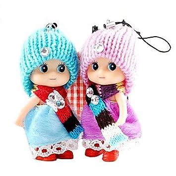 2 en 1 llavero muñeca Ddung o cadena de teléfono (color al ...