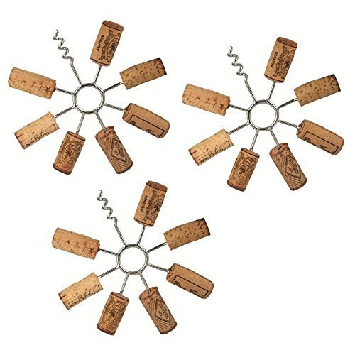 Remake It! Wine Cork Trivet - DIY Recycling with your Wine Corks! (Set of 3 Trivets) by Streamline ()