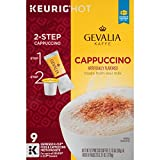 Gevalia Cappuccino Espresso Coffee K-Cup?? Pods & Froth Packets 9 Count Box