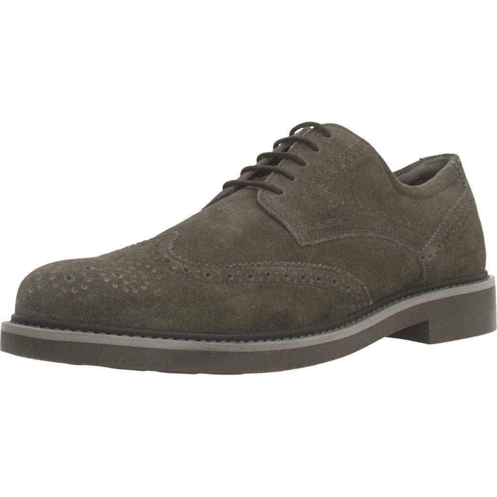 Geox U Silmor C, Zapatos de Cordones Brogue para Hombre