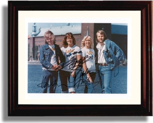 Framed Abba Autograph Replica Print for sale  Delivered anywhere in USA