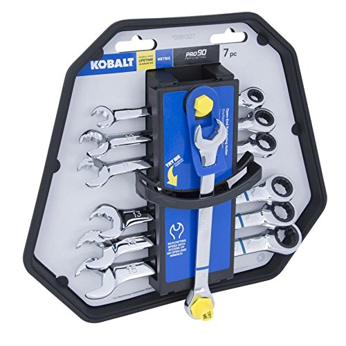 Kobalt 7-Piece Metric Ratchet Wrench Set Dual-Ratcheting Action (7 Piece Box Wrench)