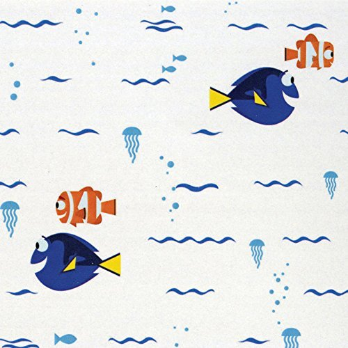 Disney Finding Dory Swimming White Fabric By Camelot Sold Sold by the Yard