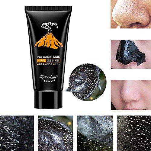 Miswilsi Hot Sale Effective Acne Treatment Volcanic Black Mud Face Mask Nose Mask Skin Care Facial Deep Cleansing (Cleansing Volcanic Mask Deep Mud)