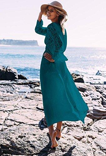 Chiffon 11 Modello Coprire Indiano Mall Crepuscolo Geometria Ho Beachwear Chimono Stampare Ricamato Spiaggia Superiore Maxi Boemia RHxxSqP