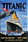 (2x3) Titanic White Star Line Cruise Ship Retro