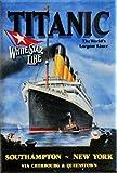 (2x3) Titanic White Star Line Cruise Ship Retro