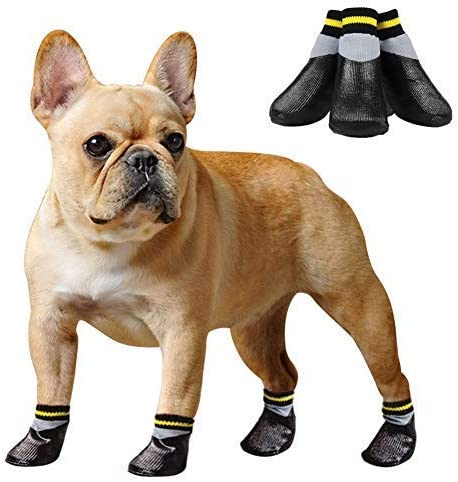 Anti-Slip Dog Socks Protective Dog Boots,Waterproof Elastic Paw Dog Boots for Small Medium Large Dogs 4