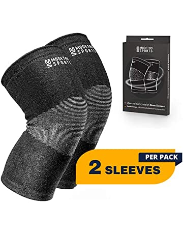 250f0020d9 Modetro Sports Knee Compression Sleeve - Knee Support - Arthritis Knee Brace  - Antimicrobial Bamboo Charcoal