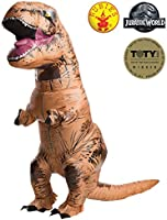 Rubies Costume Men's Jurassic World T-Rex Inflatable Costume