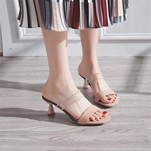 GAOQIANGFENG Beige cool libre derrapes de y Señora aire verano zapatillas al rqwtxrBv