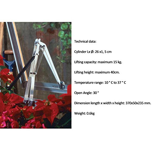 Vktech Automatic Window Opener Agricultural Greenhouse Heat Sensitive Cool Vent Replacement by Vktech (Image #4)