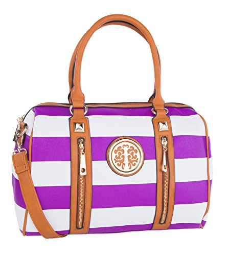 Casual Use Everyday Vintage Crossbody Satchel Ladies bag Women's Collection Purple Canvas Fashionabe Satchel MKF qvatnPBx
