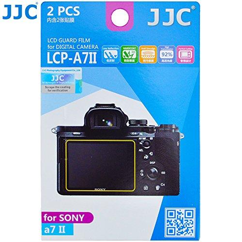 JJC LCP-A7II 2 Kits Guard Film Digital Camera LCD Display Screen Protector Cover for Sony A7II Camera