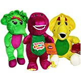 """Barney and Friends Baby Bop Bj Plush Stuffed Toys 12"""" 3pcs Doll Singing I Love You (12"""")"""