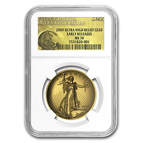 2009 Ultra High Relief Double Eagle MS-70 NGC (ER, Gold Label) 1 OZ MS-70 NGC