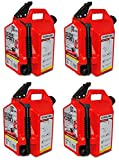 Surecan SUR50G1 5 Gallon Gas / Gasoline / Fuel Can - Quantity 4
