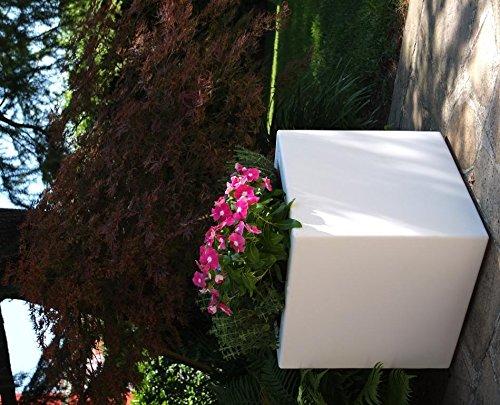 Cubo liscio in resina Fenice cm. 85 MarroneeE -