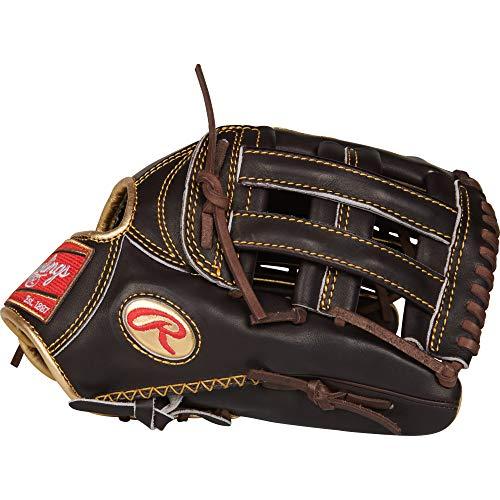 Outfield Pattern Baseball Glove - Rawlings RGG3039-6MO Gold Glove Series, Black, 12.75