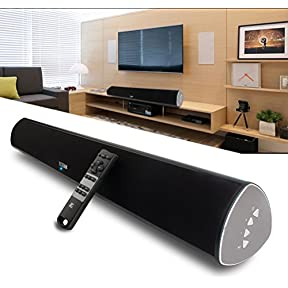 TV Soundbar, 34-Inch 2.0 Channel Sound Bar TV Wireless Surround Sound Systems With Optical Coaxial Bluetooth 4.0...
